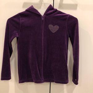 Purple Zip Up Jacket With Hood